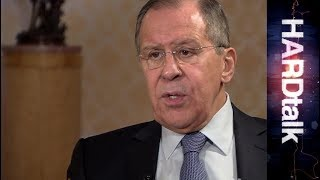 Russia's Foreign Minister Sergey Lavrov - BBC HARDtalk rushes