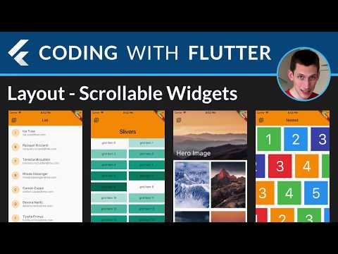 Flutter Layouts Walkthrough: PageView, ListView, GridView, Slivers, CustomScrollView