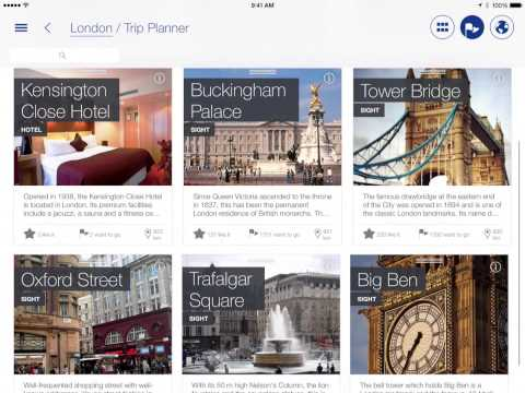 tripwolf travel guide app for iPad