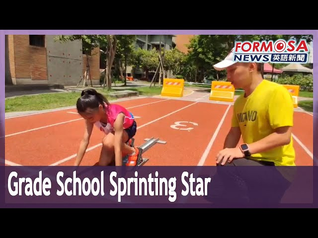 Elementary school sprinting star beats 60 meters in under 8 seconds