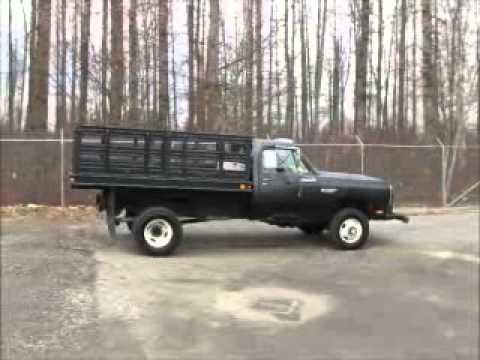 Sold! Dodge Ram 3500 4X4 Flatbed Dump Truck 9 Ft. Utility ...