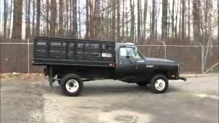 Sold! Dodge Ram 3500 4X4 Flatbed Dump Truck 9 Ft. Utility Dump bidadoo.com