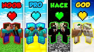 Minecraft NOOB vs. PRO. vs. HACKER vs. GOD: LOVE LIFE in Minecraft! (Animation)