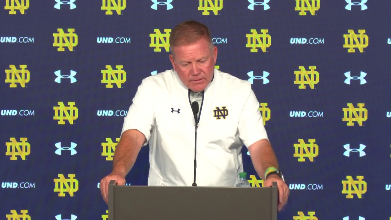 Brian Kelly Game Press Conference - Temple - YouTube