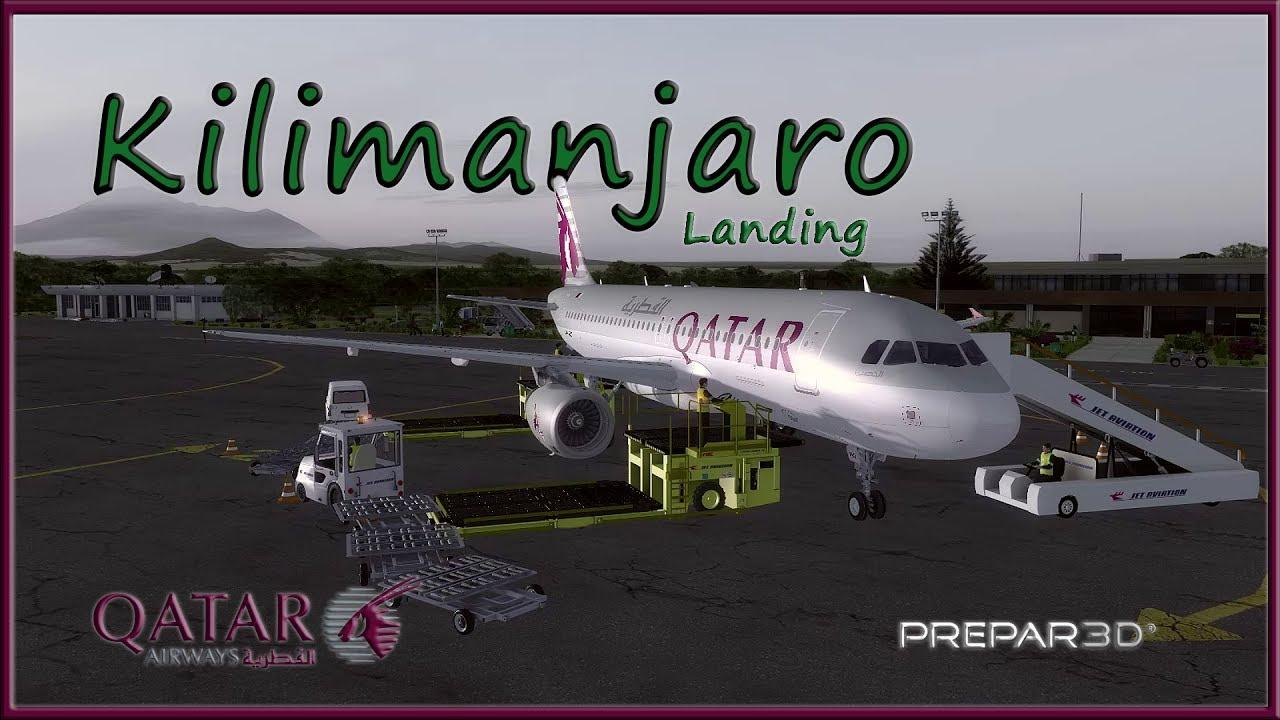 FSLabs A320 Amazing Landing at Kilimanjaro - Qatar - P3d FSX