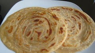 Laccha paratha (Multi-layered Indian flat bread)