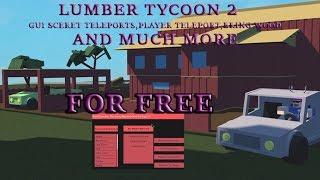 "Lumber tycoon 2 Exploit SECRET FREE ACCOUNT (SCRIPT WORKING!"") TELEPORTES,BRING WOOD"