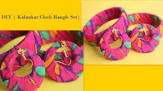 DIY Kalamkari Bangle / Fabric Bangle Tribal Jewelry / How to make Kalamkari bangle