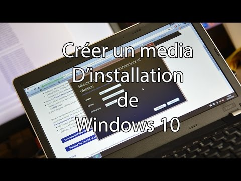 Création media d'installation Windows 10