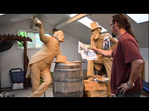 Part 1of 2 - Time-lapse Making of a Life-size Sculpture | Nathan Scott