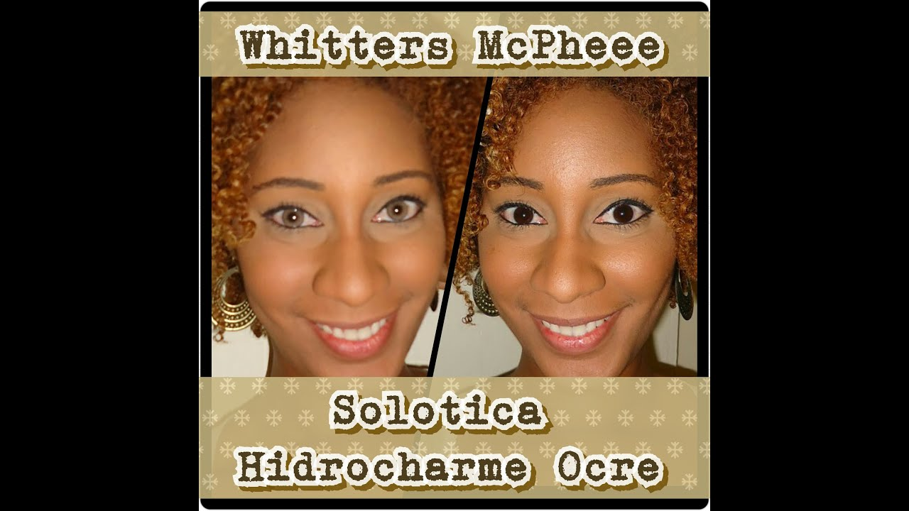 Review Solotica Hidrocharme Ocre On Dark Brown Eyes Youtube