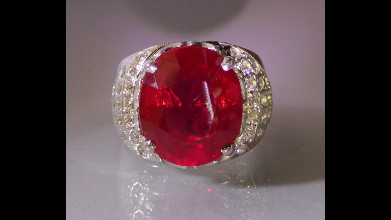 Natural Unheated Burmese Ruby Ring 13 80 Cts Youtube
