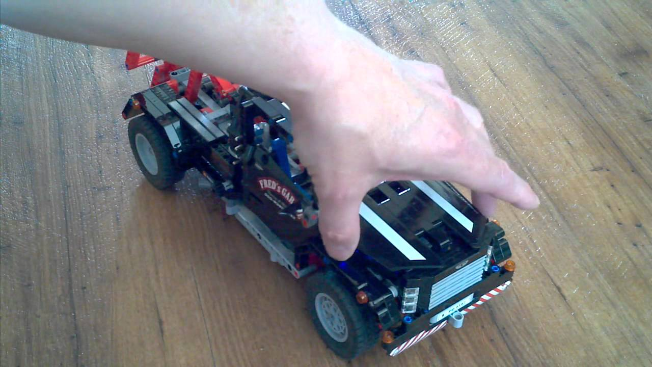 lego technic 9395 pick up abschleppwagen led beleuchtung youtube. Black Bedroom Furniture Sets. Home Design Ideas