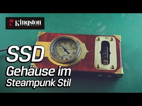 DIY Steampunk Design: Externe USB SSD Festplatte - Kingston