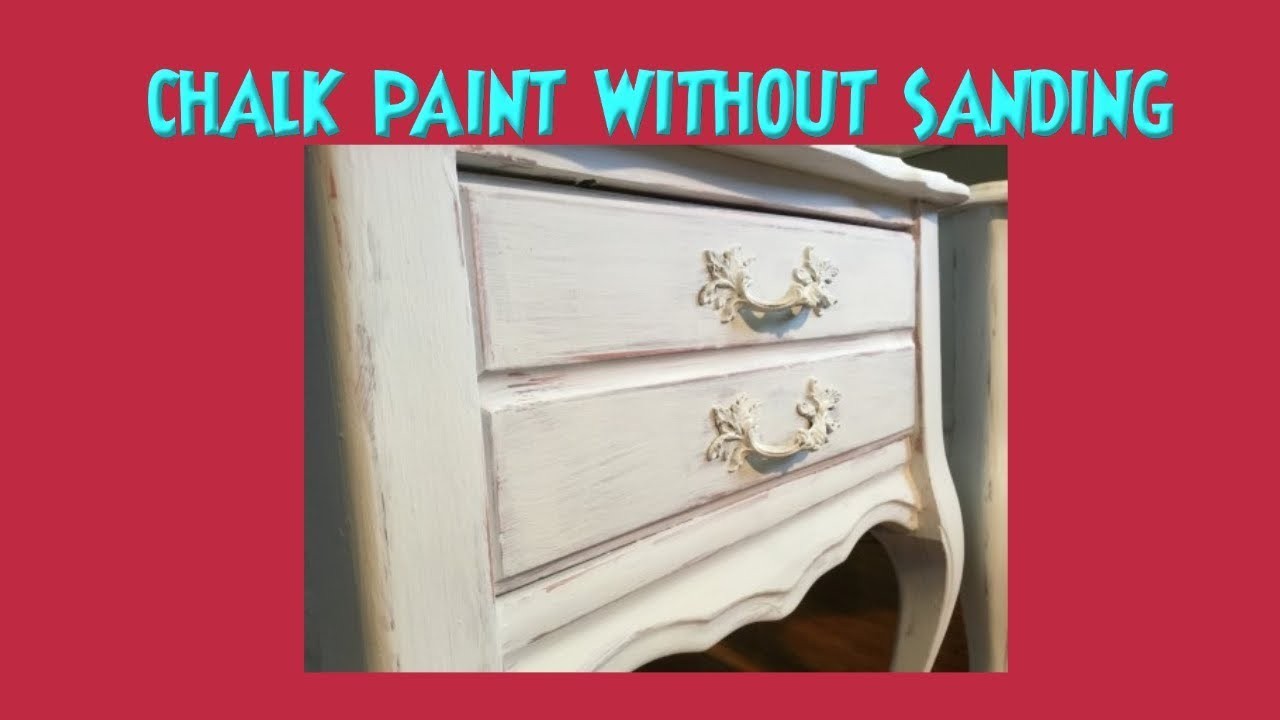 Chalk Paint Wet Distress No Sanding Best Way To Wet Sand