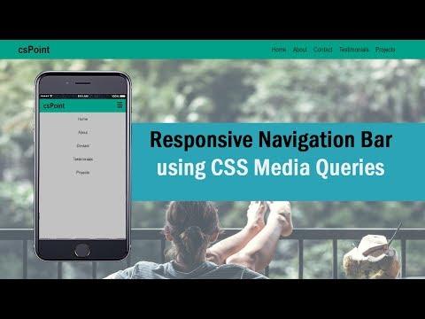 responsive navbar html css | Nikkies Tutorials