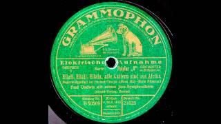 Eilali, Eilali, Eilala, alle Kaffern sind aus Afrika / Paul Godwin & Jazz-Symphoniker mit Refrain