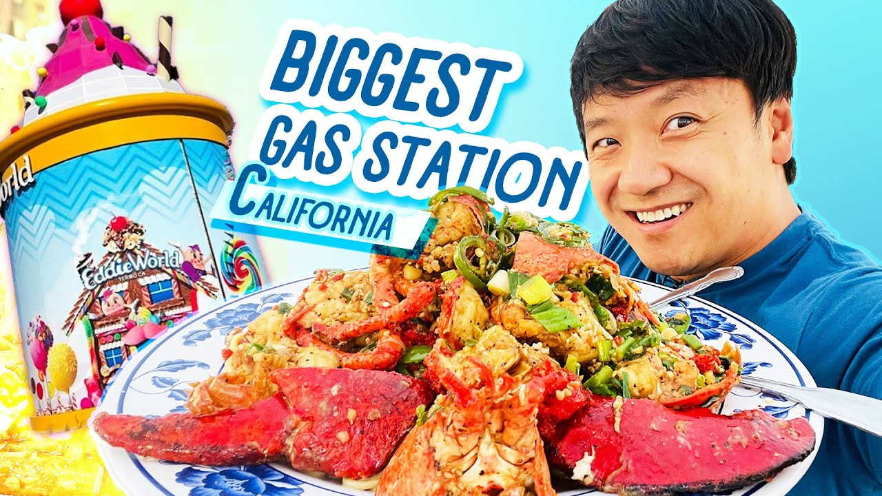 Largest GAS STATION in California FOOD REVIEW & MUST TRY LOBSTER NOODLES