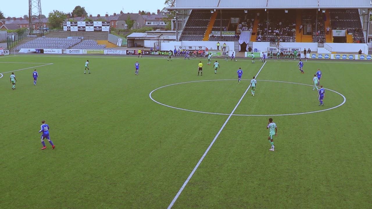 Football Match Dundalk the first attempt