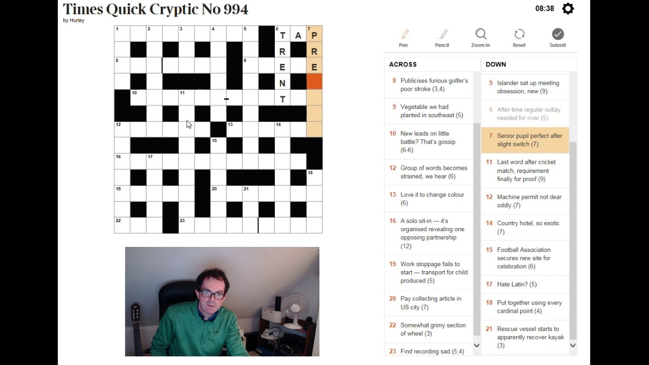 BEGINNER video: How to solve a cryptic crossword