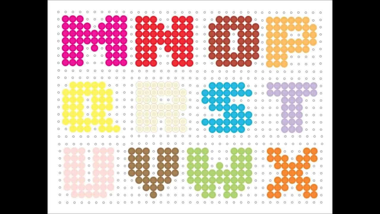 Hama Bead Alphabet - YouTube