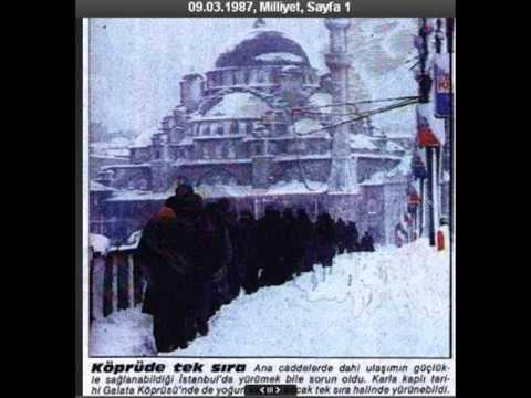 İstanbul'un meşhur Mart 1987 Kar Fırtınası