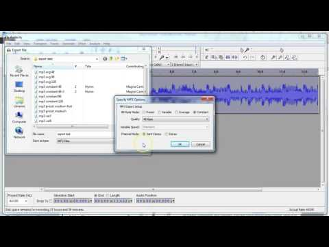 Export Audacity Recordings to MP3 Files