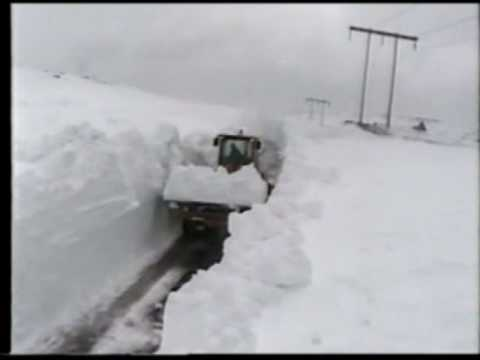 Snow Plow cutting through DEEP snow on the Heart's Content Barrens Highway - 2001