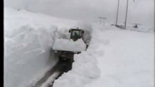 Snow Plow cutting through DEEP snow on the Heart's Content Barrens Highway - 2001 thumbnail