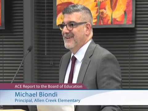 Allen Creek Elementary School Report - November 18, 2019