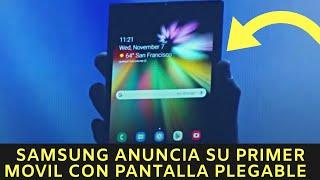 Samsung anuncia su primer movil con pantalla plegable