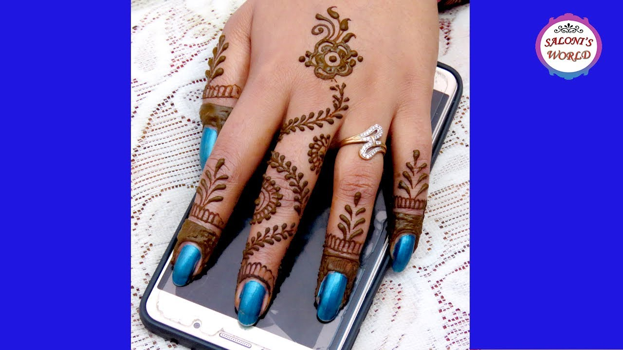 Diy Latest Finger Mehndi Designs Henna Tattoo By Jyoti Sachdeva
