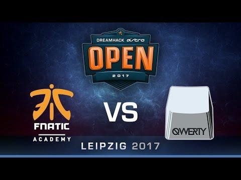 qwerty vs fnatic Academy [Map 2 BO3] DreamHack ASTRO Open Leipzig 2017