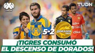 ¡Goleada lapidaria! El día que Tigres DESCENDIÓ a Dorados | Tigres 5-2 Dorados - CL2016 | TUDN