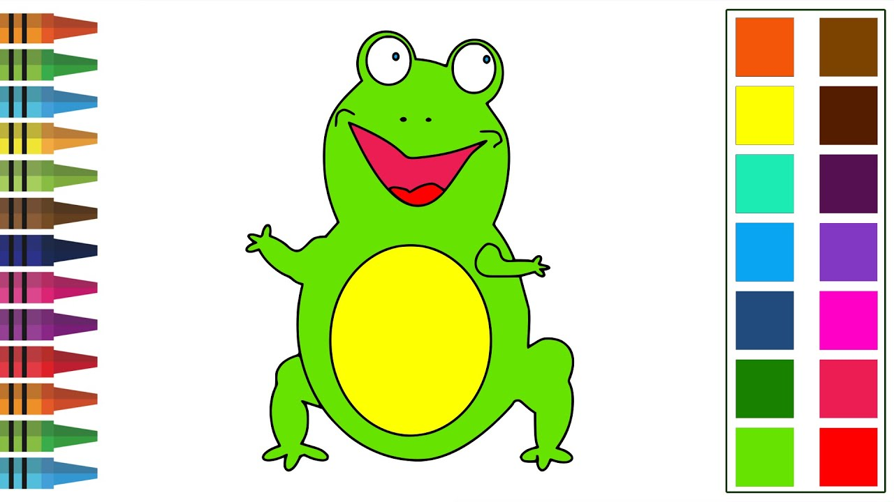 How to Draw a Frog for Kids Easy Drawing - YouTube