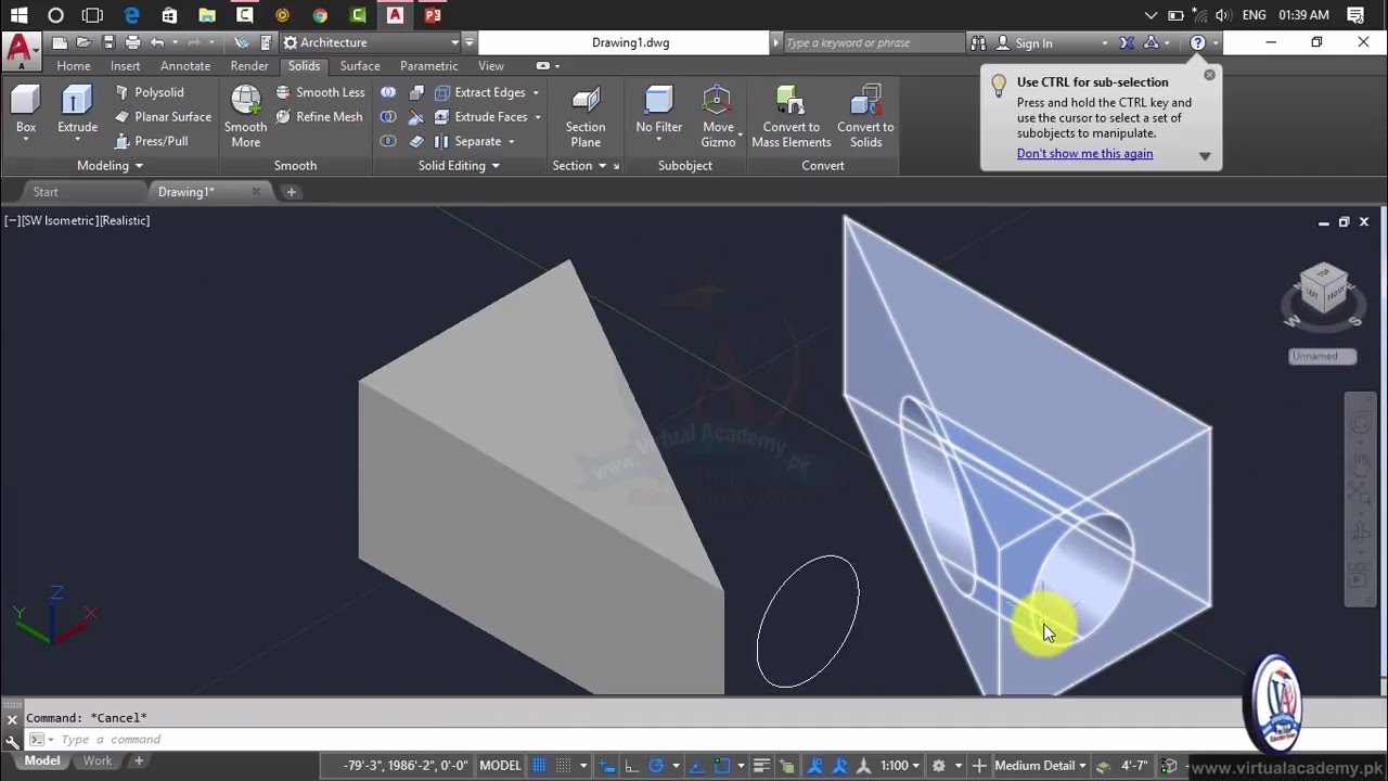 Autocad 3d modeling autocad 2017 tutorial full for 3d rendering online