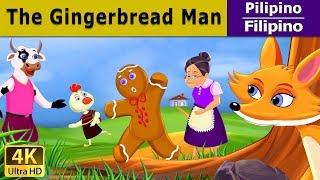 The Gingerbread Man - kwentong pambata tagalog - Mga Karikatura - 4K UHD - Filipino Fairy Tales