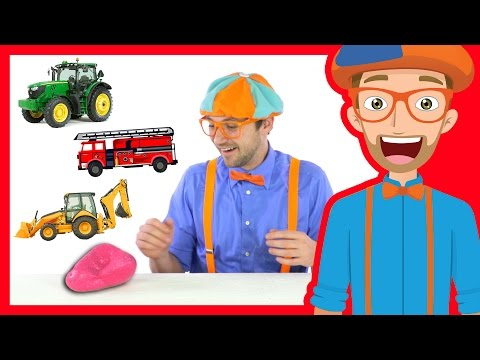 Thumbnail: Learn Vehicles for Children with Blippi | Magical Moon Rock
