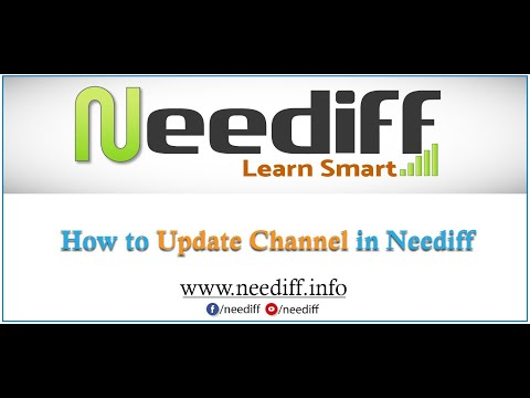 How to Update Channel Details in neediff.info