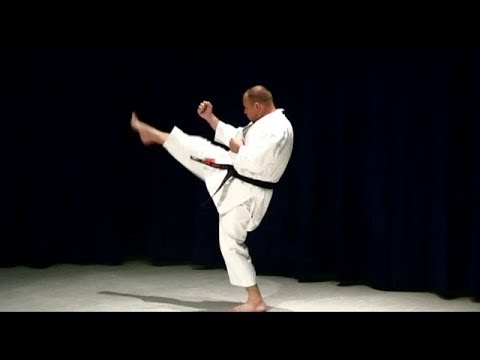 Karate For Beginners Mae Geri Front kick - sample from course 1