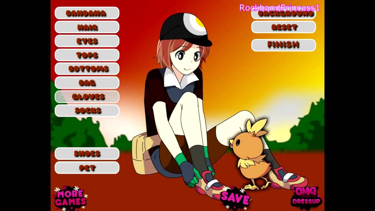pokemon dress up games
