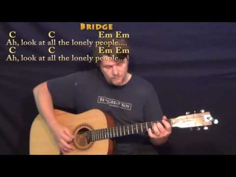 Eleanor Rigby (Beatles) Guitar Cover Lesson with Chords/Lyrics - Munson