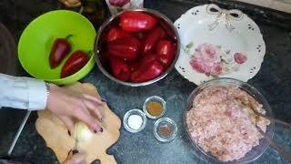 Как заморозить фаршированный болгарский перец на зиму. How to freeze stuffed peppers for the winter.