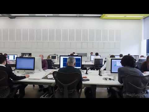 Office Workers By Day   Timelapse Tuesday 4k