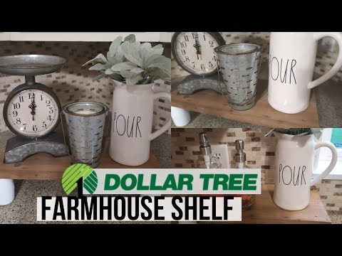 Dollar Tree Farmhouse DIY | Pallet Wood DIY | Farmhouse Countertop Shelf | DIY Wooden Shelf