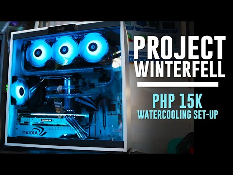 WINTERFELL: Black & White Php 15K Watercooling Set-up Ft Inwin 303 & Bykski Watercooling Kit