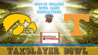 TaxSlayer Bowl Sim - Iowa vs Tennessee (NCAA Football 14 - Xbox 360)