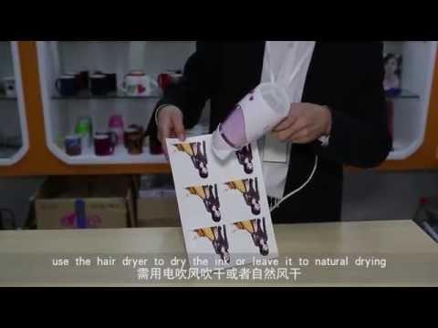 Inkjet water transfer paper white