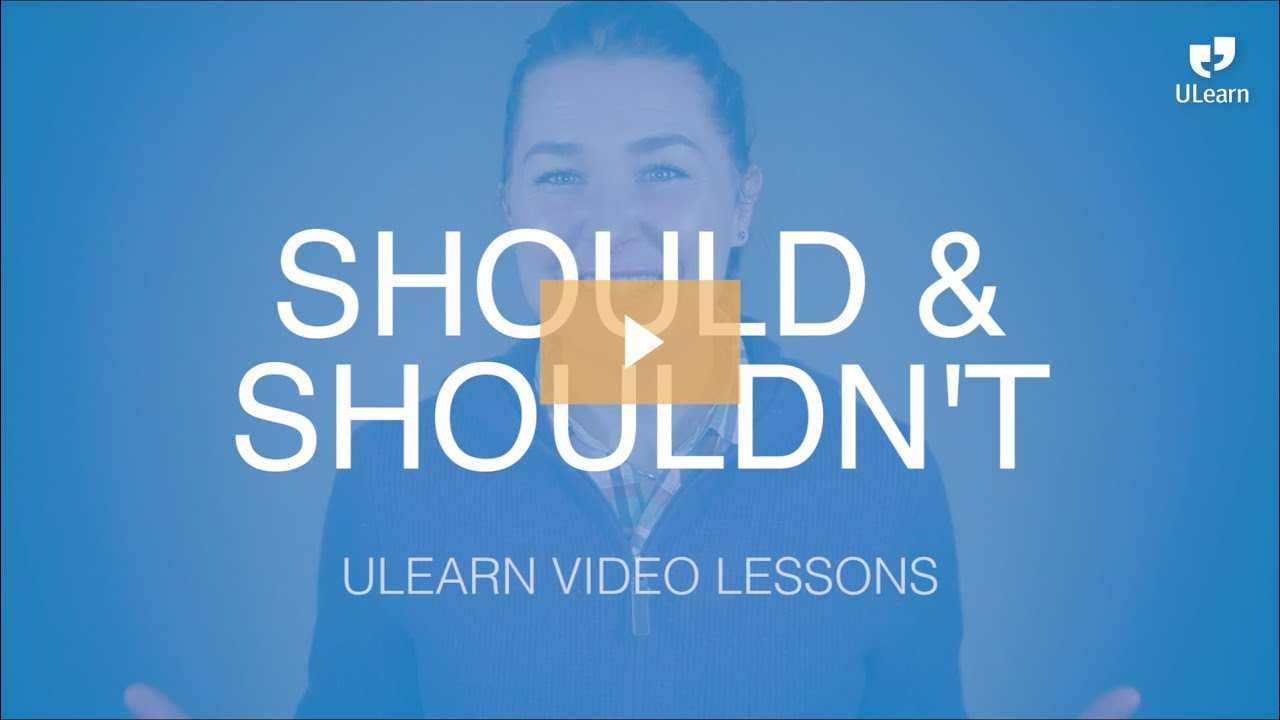 how to teach should and shouldn t