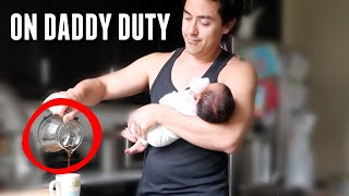 This is what happens when Daddy is on baby watch... - itsjudyslife